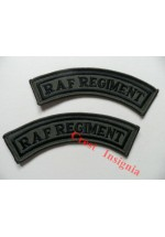 1150s. RAF Regiment shoulder titles. Subdued [black/olive]. Pair.