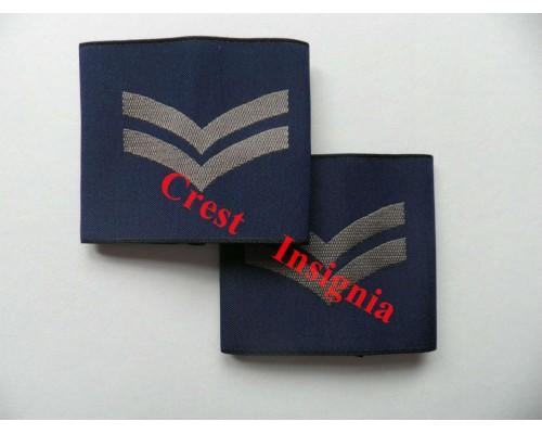 1163 RAF, Corporal rank sliders, pair.