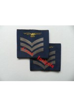 1165 RAF, Sergeant [aircrew] rank sliders, pair.
