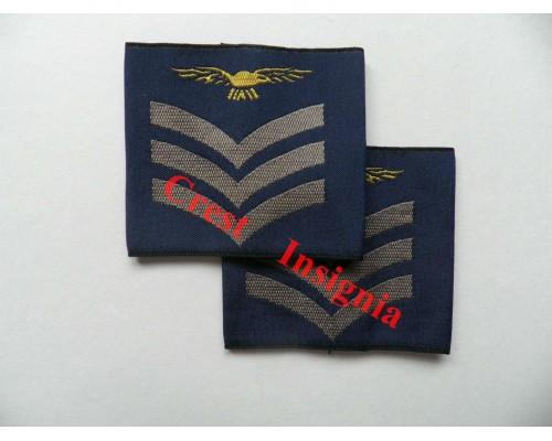 1165 RAF, Sergeant [aircrew] rank sliders, pair.