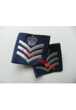 1166 RAF, Flight Sergeant rank sliders, pair.