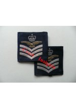1167 RAF, Flight Sergeant [aircrew] rank sliders, pair.
