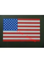 1624 U.S. Stars & Stripes vehicle sticker/decal.