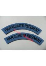 1724 Parachute Regiment, re-enactors shoulder titles [1st pattern], pair.