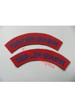 1739 Life Guards, re-enactors shoulder titles, pair.