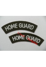 1740 Home Guard, re-enactors shoulder titles, pair.