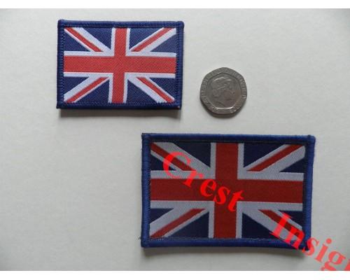1820l Union Jack flag patch, colour. 80 x 50mm