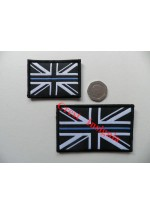 1826l 'Thin Blue Line'  [police] Mono/Blue Union Jack flag patch. 50 x 80mm.