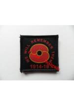 1830b '100 Years' Poppy patch, Black.