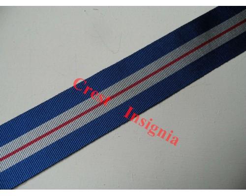 7063 Queens Gallantry Medal, medal ribbon, per metre.