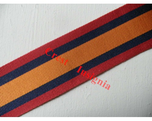 7150 Queens South Africa Medal, medal ribbon, per metre.