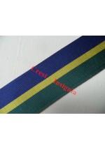 7236 Territorial Decoration, medal ribbon, per metre.