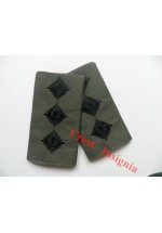1010ol, UK Forces, Captain Rank Sliders. Black/Olive.