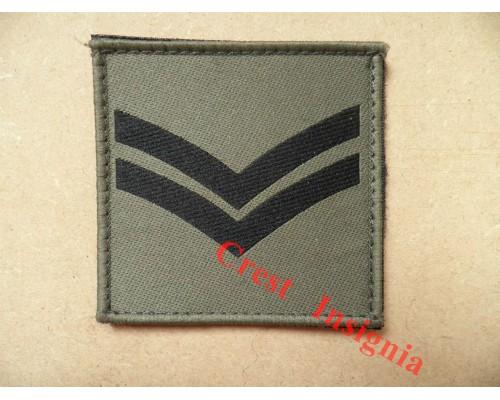 1072 Ubacs/MTP Velcro Rank Patch. Corporal.