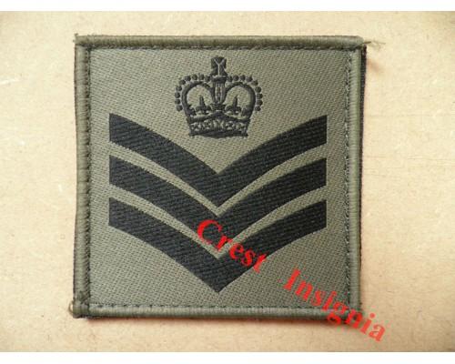 1074 Ubacs/MTP Velcro Rank Patch. Staff/Colour Sergeant