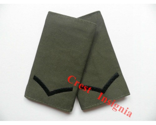1001ol UK Forces, L/cpl Rank Sliders. Black/Olive.