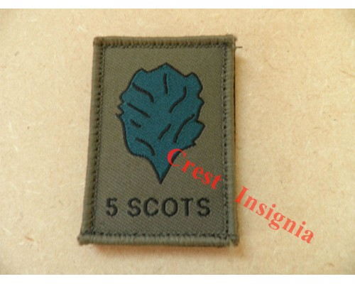 1535 5 Scots [A+S Highlanders] morale patch.