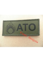 1568o  ATO + 'grenade' ID patch, olive.