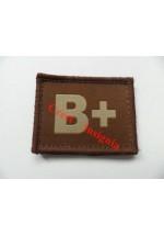 1585t B+ Blood group patch, tan.