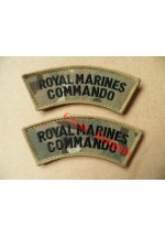 1106mtp. R.M. Commando, velcro shoulder titles, Black/MTP, pair.