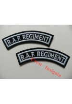1150c, RAF Regiment shoulder titles, Colour. pair.