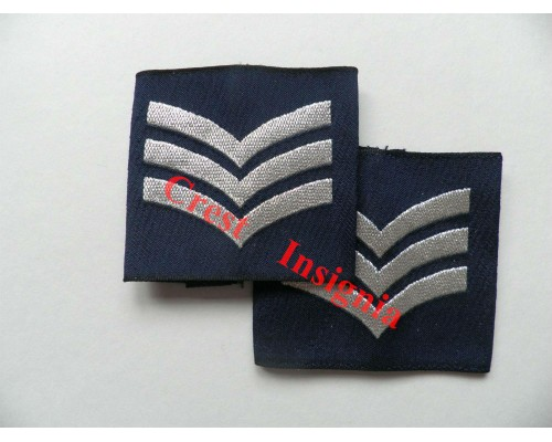 1164 RAF Sergeant rank sliders, pair.