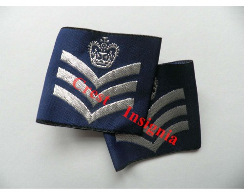 1166 RAF, Flight Sergeant rank sliders, pair.