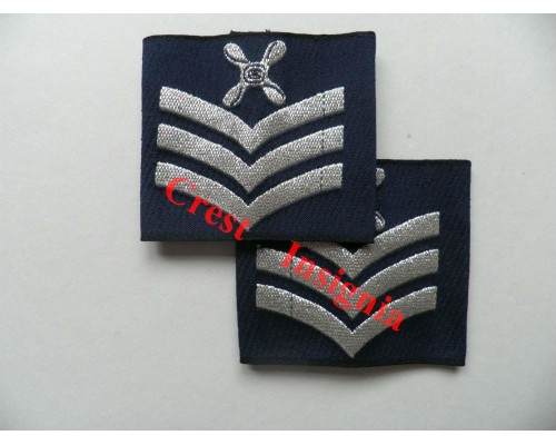 1168 RAF, Chief Technician rank sliders, pair.