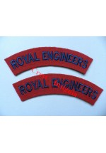 1702 Royal Engineers, re-enactors shoulder titles, pair.