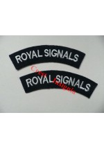 1703 Royal Signals, re-enactors shoulder titles, pair.