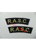 1707 R.A.S.C. re-enactors shoulder titles, pair.
