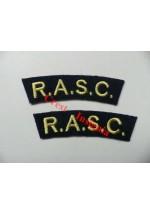 1707 R.A.S.C. re-enactors shoulder titles, pair.