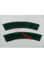 1709 Intelligence Corps, re-enactors shoulder titles, pair.