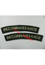 1710 Recconnaissance Corps, re-enactors shoulder titles, pair.