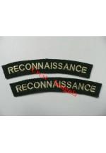 1710 Recconnaissance Corps, re-enactors shoulder titles, pair.