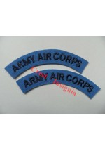 1711 Army Air Corps, re-enactors shoulder titles, pair.