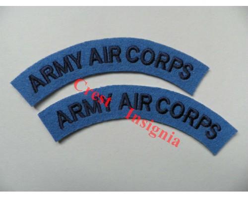 1711 Army Air Corps, re-enactors shoulder titles, pair.