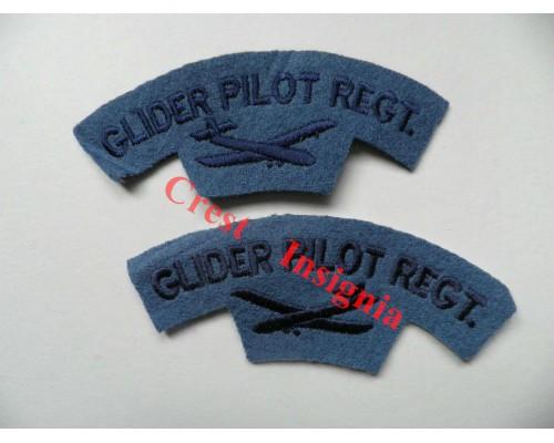 1712 Glider Pilot Regiment, re-enactors shoulder titles, pair.