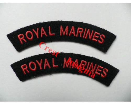 1715 Royal Marines, re-enactors shoulder titles, pair.