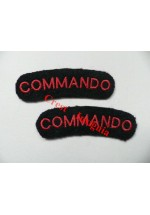 1716 'Commando' re-enactors shoulder titles, pair.