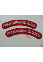 1719 Coldstream Guards, re-enactors shoulder titles, pair.