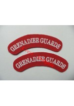 1720 Grenadier Guards, re-enactors shoulder titles, pair.