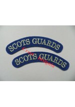 1721 Scots Guards, re-enactors shoulder titles, pair.