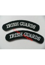 1722 Irish Guards, re-enactors shoulder titles, pair.