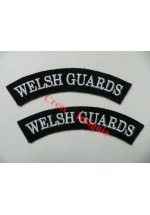 1723 Welsh Guards, re-enactors shoulder titles, pair.