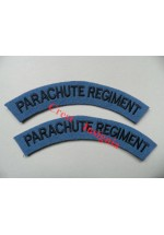 1724 Parachute Regiment, re-enactors shoulder titles [1st pattern], pair.