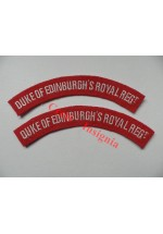 1730 D.E.R.R. re-enactors shoulder titles, pair.