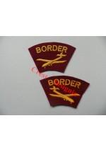 1738 Border Regiment, re-enactors shoulder titles, pair.