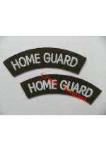 1740 Home Guard, re-enactors shoulder titles, pair.
