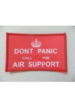 1782c  Dont Panic, call for air support patch, colour